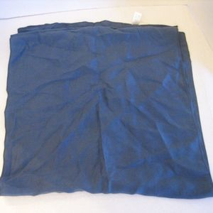 Solid Slate Blue 100% Silk Long Scarf Sz 14 x 60